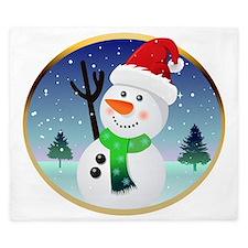 Snowman Santa King Duvet