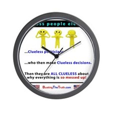 Clueless people elect Clueless politici Wall Clock