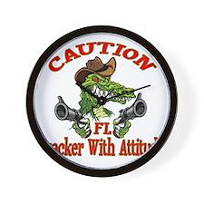 Florida Cracker With Attitude Wall Clock