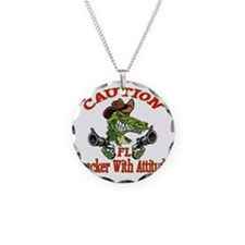 Florida Cracker With Attitud Necklace Circle Charm