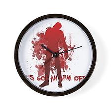 He's got an arm off! Shaun of the Dead Wall Clock