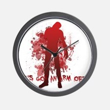 He's got an arm off! Shaun of the Dead Wall Clock