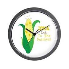 Iown Lot To The Farmers Wall Clock
