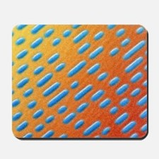 Coloured SEM of compact disc surface Mousepad