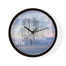 2013 January Calendar Quotes + Art Wall Clock