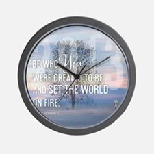 2013 January Calendar Quotes + Art Wall Clock