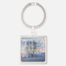 2013 January Calendar Quotes + Art Square Keychain