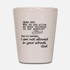 Dear God Shot Glass
