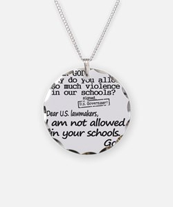 Dear God Necklace Circle Charm