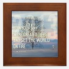 2013 January Calendar Quotes + Art Framed Tile