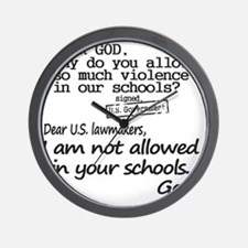 Dear God Wall Clock