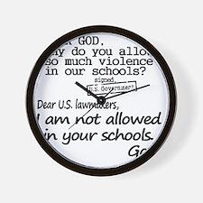 Dear God Wall Clock