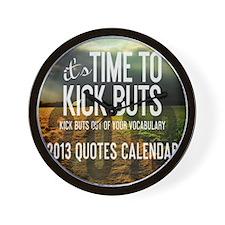 2013 Calendar Quotes + Art Wall Clock