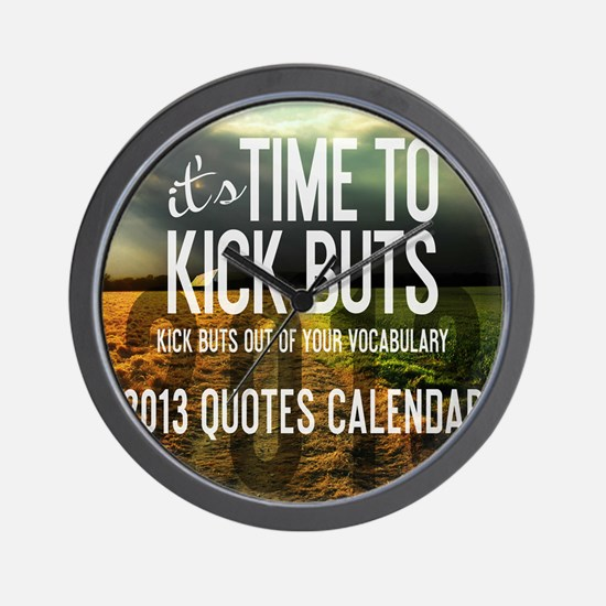 2013 Calendar Quotes + Art Wall Clock