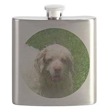 Clumber Spaniel Charm Flask