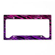 Colorful pink  purple fur zeb License Plate Holder