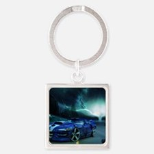 FASTER THAN LIGHTENING Square Keychain
