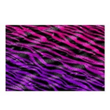 Colorful pink  purple fur Postcards (Package of 8)