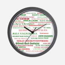 Many Merry Christmases Wall Clock