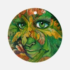 Green Woman Round Ornament