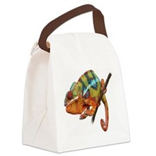 Yellow Chameleon on Stick Canvas Lunch Bag