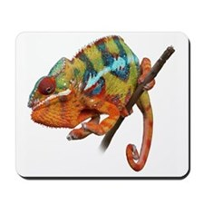 Yellow Chameleon on Stick Mousepad