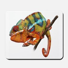 Yellow Chameleon on Stick Mousepad