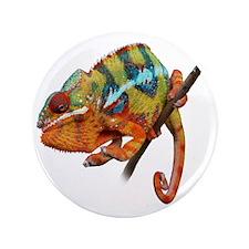 "Yellow Chameleon on Stick 3.5"" Button"