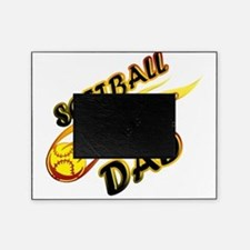 Softball Dad (flame) copy Picture Frame