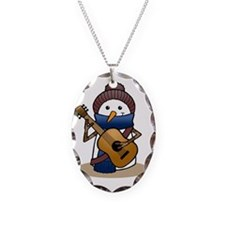 Snowman with Guitar Necklace