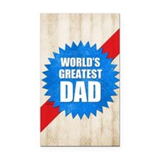 Worlds Greatest Dad Rectangle Car Magnet