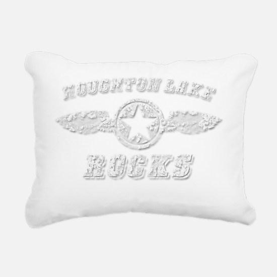 HOUGHTON LAKE ROCKS Rectangular Canvas Pillow