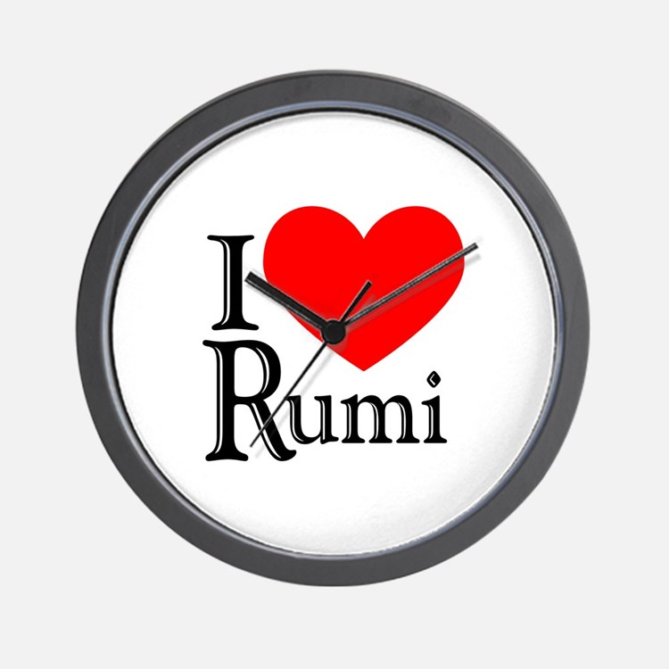 I Love Rumi Wall Clock