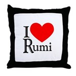 I Love Rumi Throw Pillow