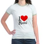 I Love Rumi Jr. Ringer T-Shirt