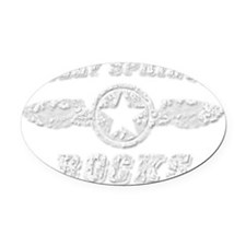 HOLLY SPRINGS ROCKS Oval Car Magnet