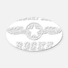 ROSEMARY BEACH ROCKS Oval Car Magnet