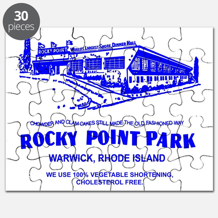 Shore Dinner Hall Clam Cake Blue Puzzle