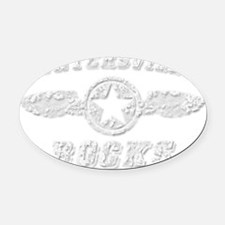 HUNTERSVILLE ROCKS Oval Car Magnet