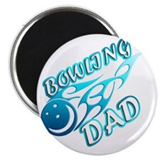 Bowling Dad (flame) copy Magnet
