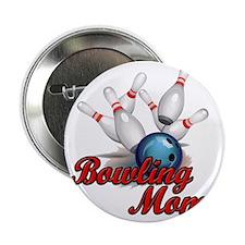 "Bowling Mom (strike) copy 2.25"" Button"