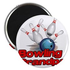 Bowling Grandpa strike) Magnet