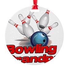 Bowling Grandpa strike) Ornament