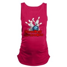 Bowling Grandpa strike) Maternity Tank Top