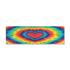Rainbow Heart Tie Dye Car Magnet 10 x 3