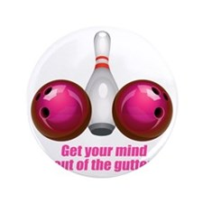 "Get your Mind out of the Gutter (pink) 3.5"" Button"