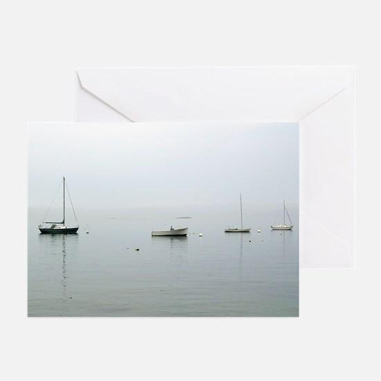 Bar Harbor Boats Greeting Cards (Pk of 10)