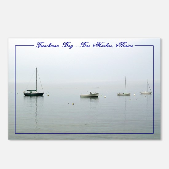 Bar Harbor Boats Postcards (Package of 8)