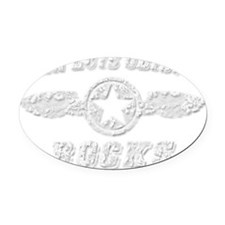 SAN LUIS OBISPO ROCKS Oval Car Magnet