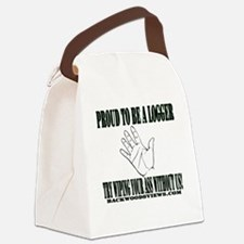 Proud to be a Logger Canvas Lunch Bag